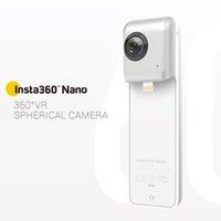 Wholesale Insta360 Nano Compact Mini Degree Panoramic Panorama Camera K HD Video Degree Dual Wide Angle Fisheye Lens for VR Headset Glasses
