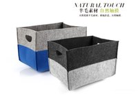 Wholesale Wool felt desktop storage box Double color fashion storage basket