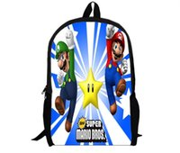 age mario - Super Mario Brothers Backpack Cartoon and durable used for all different ages HD Printed for students