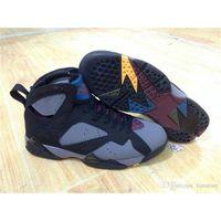 achat en gros de bonnes chaussures pas cher en ligne-Air chaud de vente rétro 7 bordeaux 2015 chaussures de basket-ball des hommes en ligne bon marché chaussures vraies bonne taille US 8-13 expédition libre avec la boîte