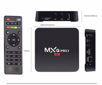 Wholesale Original MXQ PRO Quad Core Android TV Box k Amlogic S905 Android TV BOX With Customized KODI Fully Loaded K H