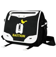bastion game - Bastion shoulder bag Game cross body Unisex Casual walk satchels Canvas sling case Leather trip pouch
