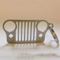 Wholesale Travel Kit Car Key Chain Stainless Steel KeyChain Key Ring for Jeep Grill CJ JK TJ YJ XJ
