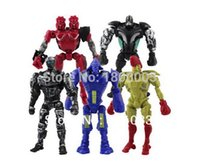 Wholesale 12cm Real Steel Series One Piece Flash Man Robot PVC Action Figure Toys Doll Set Kids Gift