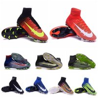Wholesale Mercurial Superfly V FG Mens Soccer Boots Kids Football Boots Womens Soccer Shoes Superflys Youth Soccer Cleats Children Football Shoes
