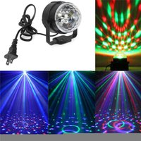 Wholesale 3W RGB LED Mini Laser Light DJ Disco Lights Dance Bar Crystal Magic Ball Stage Light Show Christmas Party Lamp
