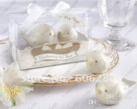 Wholesale Wedding Favor Feathering the Nest Ceramic Birds Salt Pepper Shakers Wedding gifts Baby