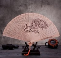 Wholesale 2016 NEW BOXED Sandalwood fan Craft gift Fan gift Lady fan