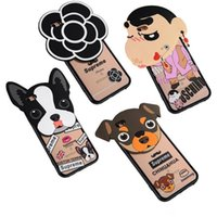 big poodle - 2016 New D Cartoon Cute Poodle Big head doll Silicon TPU Phone Case Back Cover For iphone SE plus Phone Cases