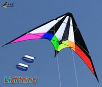 Wholesale Outdoor Fun Sports NEW Dual Line Stunt Kites Lightning Kite with Handle And Line Good Flying