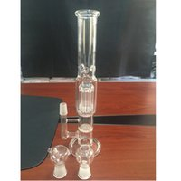 arm factory - hookahs Factory Price glass bongs Arm Perk with Honeycomb bongs MM glass water pipes Clear bongs glass with Glass Nail Glass Bowl