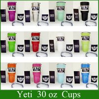 Wholesale In stock Yeti cup Powder Coated oz Yeti Rambler YETI Coolers Rambler Tumbler Stainless Steel Double Walled Travel Mug YETI cup