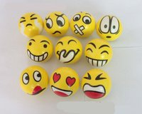 Wholesale 2016 Design Emoji Faces Squeeze Stress Ball Hand Wrist Finger Exercise Stress Relief Therapy Assorted Styles New Christmas party toys
