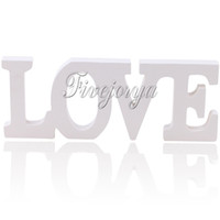 Wholesale White Color LOVE Wooden Letters Wedding Top Table Sign Gift Wedding Props Decorations Wooden Standing Present Wedding Supply New