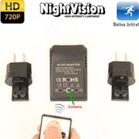 Wholesale US EU Plug Wall Charger Adapter Spy Hidden Camera Night Vision CMOS Sensor Video Recorder Cam