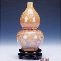 Wholesale 06 Jingdezhen ceramic crystalline glaze vase Color glaze sitting room adornment handicraft furnishing articles