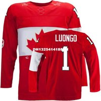 Cheap Retro throwback #1 ROBERTO LUONGO Team Canada Jersey OLYMPIC HOCKEY EUB Fast free shipping Customize any size player name number
