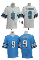 authentic lions jersey - HOT SALE Men s Lions Elite Football Jerseys STAFFORD High Quality Stitched authentic Two Colors Allowed