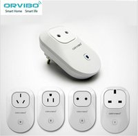 Wholesale 2016 Switch Remote Control Wifi Home Automation WiFi Plug Remote Control Smart Socket ORVIBO S20 Wireless Work With retail box DHL