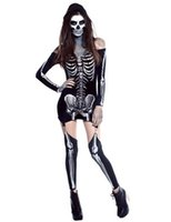 adult flower costumes - Hot Adult Skeleton Day of The Dead Costume Women s Sexy Sugar Skull Dia Flower Fairy Halloween ghost vampire bride Fancy Dress