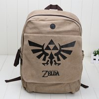 big boy school bags - 35 cm The Legend of Zelda Backpack Zelda Logo Canvas Black Bag Unisex School Plush Backpack For girls boys