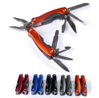 Wholesale In Outdoor foldable EDC Survival pocket Tool Fold Stainless Multifunction Plier Knife Screw Diver Opener