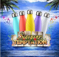 Wholesale 500ML Cola Shaped Double Wall Vacuum Stainless Steel Water Bottle Insulated Vacuum Cup stainless steel Cup OOA663