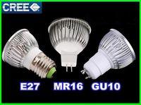 Wholesale promotion Dimmable GU MR16 E27 W W W LED Spotlight led lighting led bulbs led lamp Indoor led bulb