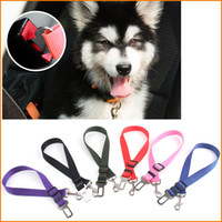 Wholesale 6 Colors Cat Dog Pet Car Safety Seat Belt Harness Adjustable Pet Puppy Pup Hound Vehicle Seatbelt Lead Leash for Dogs