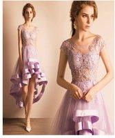 Wholesale Cheap Light For Chrismas - Purple Evening Dresses Online Cheap Prom Dresses Short Front Long Back Celebrity Dresses Cocktail Dresses Vintage Formal Wear For Women