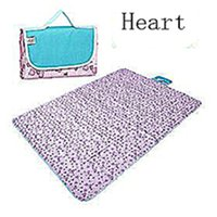 Wholesale Oxford Cloth and Waterproof Outdoor Picnic Mat Or Yoga Mat peach heart Multiple Size and Multicolor