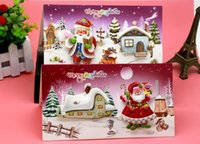 Wholesale new high quality white cardboard stereoscopic pattern Christmas greeting card per blessing children