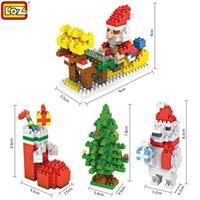 Wholesale Children Santa Claus Building Blocks Toys