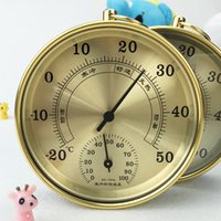 Wholesale Fashion indoor wall hanging high precision metal thermometer temperature and humidity meter