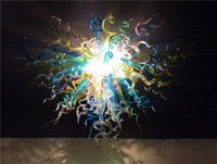 artistic crystals - LR512 CE UL Certificate Multi Colored Crystal Chandelier Hand Blown Chihuly Style Artistic Lamp Borosilicate Glass Decoration Lighting
