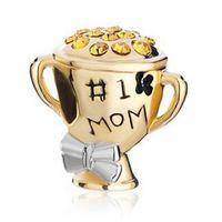 award bracelets - Mother s Day No Mom Award Cup bead European charm Fit Pandora Chamilia Biagi Charm Bracelet