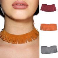 Wholesale 2016 New choker Necklaces Tassel Velvet Choker Necklace Minimalist Jewel Party Accessories For Women Best Gift For Friends Love