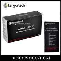 Original KangerTech récent remplacement VOCC VOCC-T Coil atomiseur Head 0.8 / 1.0 / 1.2 / 1.5 / 1.8ohm ajustement Kanger Aerotank Evod verre