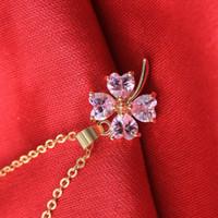best jewerly - AAA Cubic Zircon Crystal cloverleaf jewerly choker necklace best selling