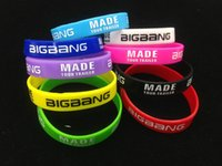 Wholesale hot Bigbang MADE Silicone Bracelet Noctilucent Colorful Wristband Sport bracelets only bands no boxes package
