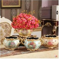 Wholesale Ceramic flower vase Home Furnishing decoration European style Christmas decorations