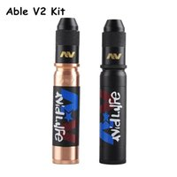 able glass - New Able V2 Kit AV Kit Clone Able Mod AV Torpedo Cap Combo RDA Black Gold Colors Limited Edition E cigarette Kit DHL Free