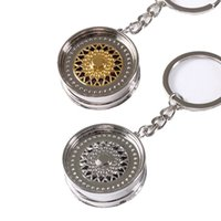 alloy rims parts - BBS Wheel Rim Keychain Auto Part Car Key Ring Hellaflush Key Chain Gold Or Silver Color