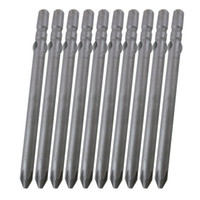 Wholesale Shank mm Diameter Length mm S2 Material Silvery Gray Magnetic Phillips Screwdriver Bits PH00 PH0 PH1 PH2 pack