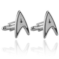 Wholesale Jewellery star trek ensign Badge wars cufflinks male French shirt cuff links for men s Jewelry Gift