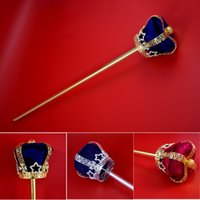 beauty pageant crowns - Scepter Crown Cross RhinestoneThree Dimenshional Pageant Bridal Beauty King Queen Winner Cosplay Princess Party Accessories Scepters Mk033