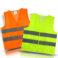 Wholesale Car Motorcycle Reflective Safety Clothing High Visibility Safety Reflective Hi Viz Vest Warning Coat Reflect Stripes Tops Jacket