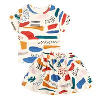 Cheap INS bobo choses girls sets Best kids colorful fruit print T skirts 2pcs