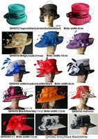 ladies dress hats - NEW Design dress wedding bridal organza sinamay hat Ladies Hat fascinator for Kentucky Derby Ascot church races