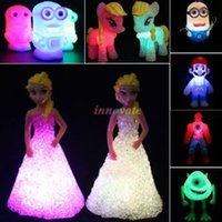 Wholesale Colorful Led changing night Light table Lamp decor Kids Toys Doll Toy Kids Gift